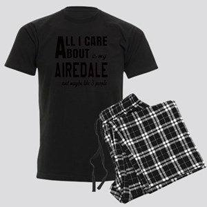 All I care about is my Airedal Men's Dark Pajamas