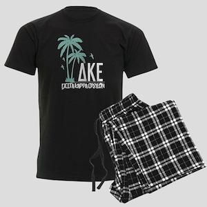 Delta Kappa Epsilon Palm Trees Men's Dark Pajamas