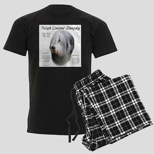 Polish Lowland Sheepdog Men's Dark Pajamas