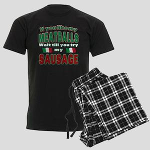 Italian Food Men's Dark Pajamas