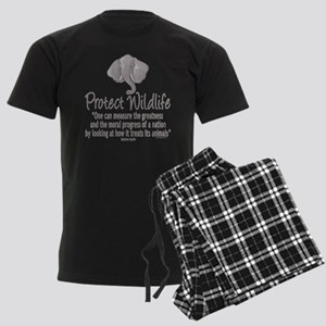 Protect Elephants Men's Dark Pajamas
