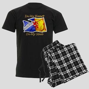 Scotland in my heart Men's Dark Pajamas