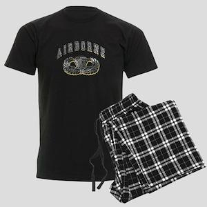 US Army Airborne Wings Silver Men's Dark Pajamas