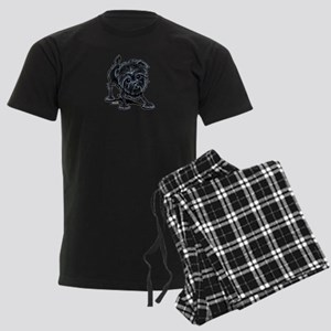 Affenpinscher Lover Men's Dark Pajamas