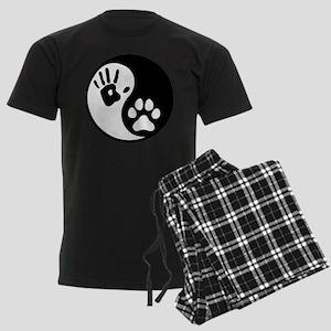 Human & Dog Yin Yang Men's Dark Pajamas
