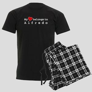 My Heart Belongs To Alfredo Men's Dark Pajamas