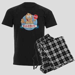 Allergic to Peanuts Men's Dark Pajamas