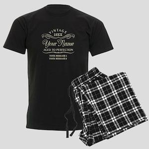 Personalize Funny Birthday Men's Dark Pajamas