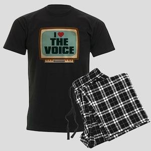 Retro I Heart The Voice Men's Dark Pajamas