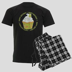 8th Birthday Cupcake Men's Dark Pajamas