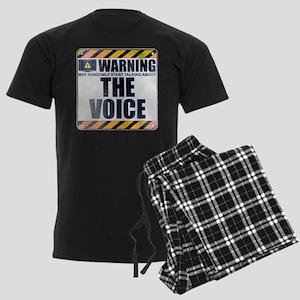 Warning: The Voice Men's Dark Pajamas