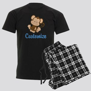 Custom Monkey Men's Dark Pajamas