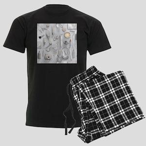 White Vanity Table Men's Dark Pajamas