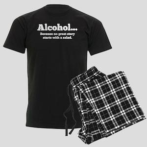 Alcohol Men's Dark Pajamas
