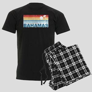 Retro Bahamas Palm Tree Men's Dark Pajamas