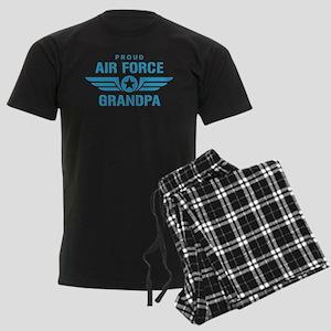 Proud Air Force Grandpa W Men's Dark Pajamas