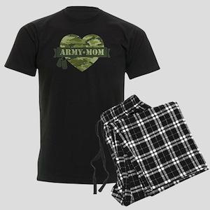 Camo Heart Army Mom Men's Dark Pajamas