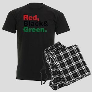 Red, Black and Green. Men's Dark Pajamas