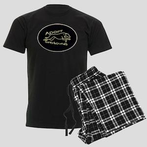 More Greyhound Logos Men's Dark Pajamas