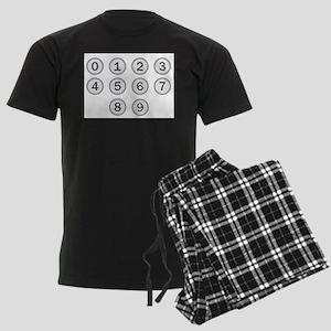 Typewriter Keys Numbers Men's Dark Pajamas