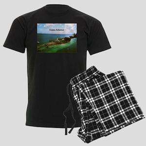 Nassau lighthouse Men's Dark Pajamas