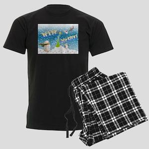 Holiday, happy Men's Dark Pajamas