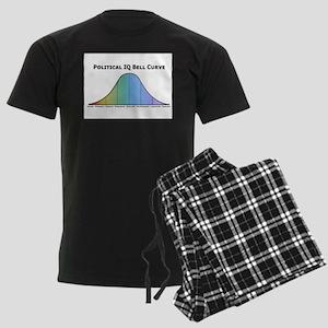 Political IQ Bell Curve Men's Dark Pajamas