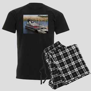 Florida swamp airboat Men's Dark Pajamas