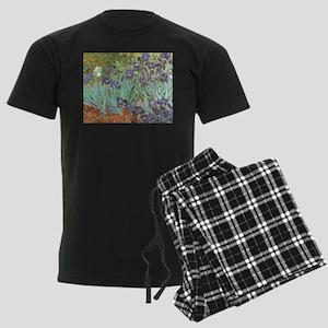 Van Gogh Irises, Vintage Post Men's Dark Pajamas
