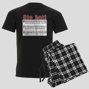 Sto Lat! Song Men's Dark Pajamas