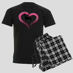 Heart My Doberman Men's Dark Pajamas