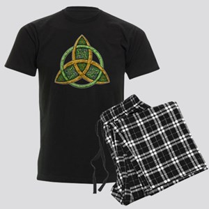 Celtic Trinity Knot Men's Dark Pajamas