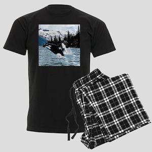 Leaping Killer Whales Men's Dark Pajamas