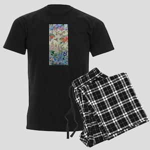Hummingbirds and Flowers Men's Dark Pajamas