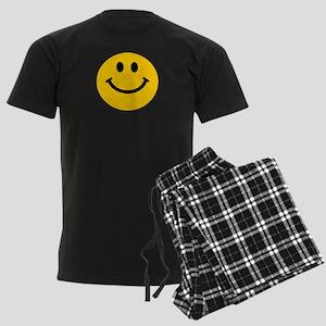 Yellow Smiley Face Men's Dark Pajamas