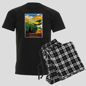 Canada Travel Poster 7 Men's Dark Pajamas