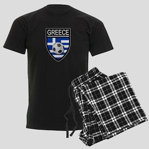 Greece Soccer Patch Men's Dark Pajamas