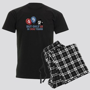 49 year old birthday design Men's Dark Pajamas