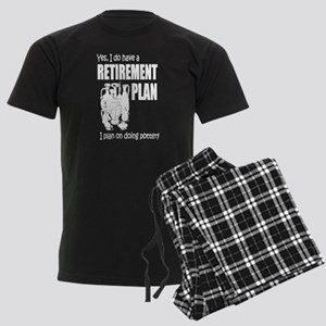 Retirement Plan On Doing Potte Men's Dark Pajamas