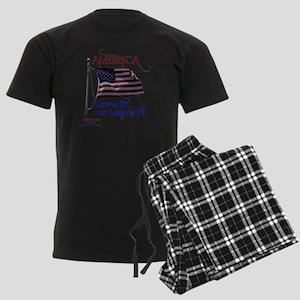 America Love It or Leave it Men's Dark Pajamas
