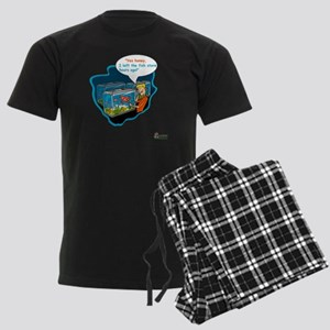 LTR - Left The Fish Store Hour Men's Dark Pajamas