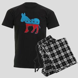 Democrat Donkey (Grunge Texture) Men's Dark Pajama