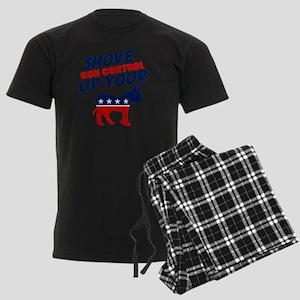 gun control Men's Dark Pajamas