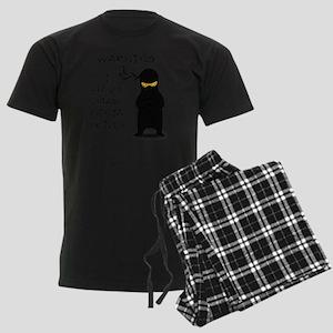 ninja warning Men's Dark Pajamas