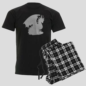 Dragon silhouette shower curta Men's Dark Pajamas