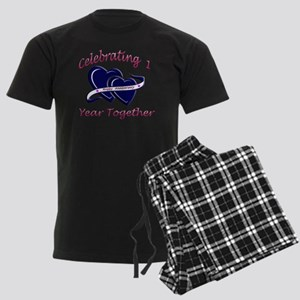 2-celebrating heart 1 copy Men's Dark Pajamas