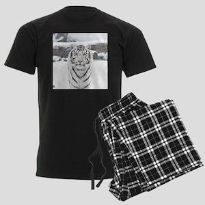 White Tiger Men's Dark Pajamas