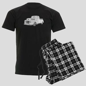 1950 Ford F1 Men's Dark Pajamas