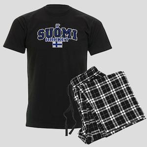 Finland(Suomi) Hockey Men's Dark Pajamas