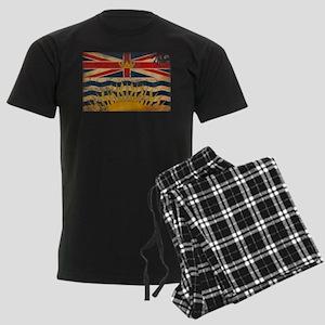 British Columbia Flag Men's Dark Pajamas